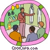 Vector Clip Art picture  of a protective clothing in an