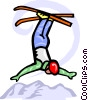 Vector Clip Art picture  of an acrobatic skiing