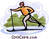 Vector Clipart image  of a cross country skiing
