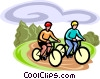 cycling Vector Clipart picture