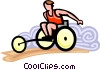 Vector Clip Art picture  of a wheelchair sports