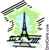 geotechnical style, France Vector Clipart image