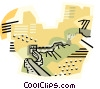 Vector Clipart picture  of a geotechnical style