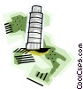 Vector Clip Art graphic  of a Geotechnical style, Italy