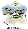 Vector Clipart picture  of a Geotechnical style, France