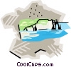 Vector Clip Art picture  of a France Chalk cliffs