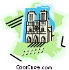 geotechnical style, France Vector Clipart picture