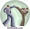 business competitors waging battle Vector Clip Art picture