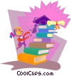 education, books Vector Clipart illustration