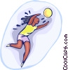 Vector Clip Art picture  of a volleyball