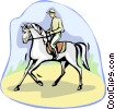 dressage, equestrian Vector Clipart picture