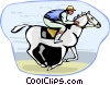 Vector Clipart image  of a horse race