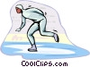 Vector Clip Art image  of a speed skating