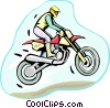 motocross Vector Clipart illustration