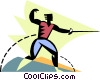 Man fencing Vector Clip Art picture