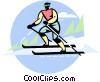 Man skiing Vector Clipart illustration