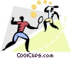 Vector Clip Art image  of a tennis