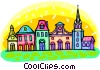 city scene Vector Clipart picture