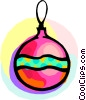 Vector Clip Art image  of a Christmas ornament