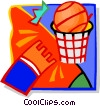 basketball shot Vector Clipart illustration