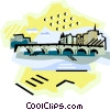 Seine River - Paris Vector Clipart graphic