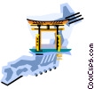 Geotechnical style, Japan Vector Clip Art image