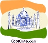 Eurosketch style, India, Taj Mahal Vector Clipart graphic