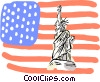 United States, Statue of Liberty Vector Clipart graphic