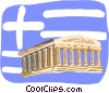 Acropolis, Athens, Greece, Vector Clipart illustration