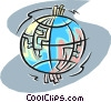 Vector Clip Art graphic  of a global communications