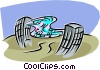 computer communications Vector Clip Art picture