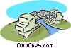 Vector Clip Art graphic  of a corporate communications