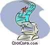 Vector Clip Art graphic  of a computer communications