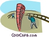 Vector Clipart picture  of a overcoming obstacles