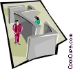 barriers to communications Vector Clipart graphic