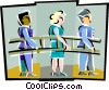 Vector Clipart image  of a carrying a ladder