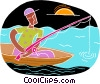 chalkboard style, fishing Vector Clipart picture