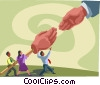 hands shaking Vector Clipart image