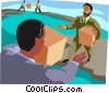 business metaphors, international trade Vector Clip Art graphic