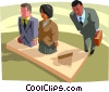 Vector Clip Art graphic  of a fitting into an allotted peg