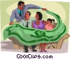 Vector Clipart graphic  of a financial security blanket