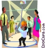business metaphors, basketball Vector Clipart picture