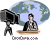 Vector Clipart image  of a News anchor