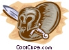 Vector Clip Art picture  of a Roman Armor