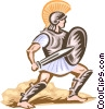 Vector Clip Art image  of a Roman Soldier