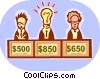 Game Show Contestants Vector Clipart illustration
