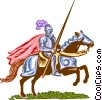 Vector Clipart illustration  of a Medieval Knight