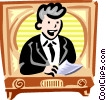 TV anchorman Vector Clipart picture