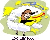Vector Clip Art graphic  of a Weatherperson