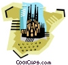 geotechnical style, Spain Vector Clip Art image